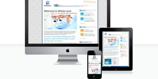 Willow Lane responsive design for home page